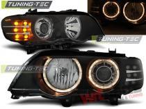 BMW X5 E53 09.99-10.03 ANGEL EYES BLACK LED INDICATOR XENON - LPBM88