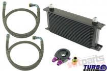 Oil Cooler Kit 25-rows 260x195x50 AN10 black - CN-OC-138 KIT