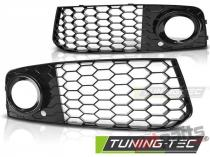 Front grille RS style AUDI A4 (B8) 08-10.11 GLOSSY BLACK GRAU19