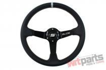 Steering wheel SLIDE 350mm offset:90mm Carbon Silver Strip - PP-KR-034